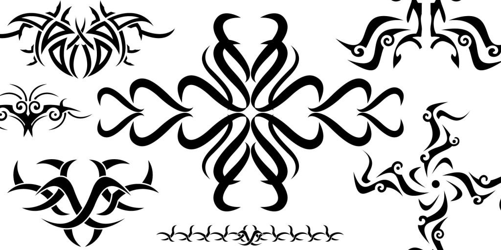 Tribal art using vector graphics - Free vector artwork