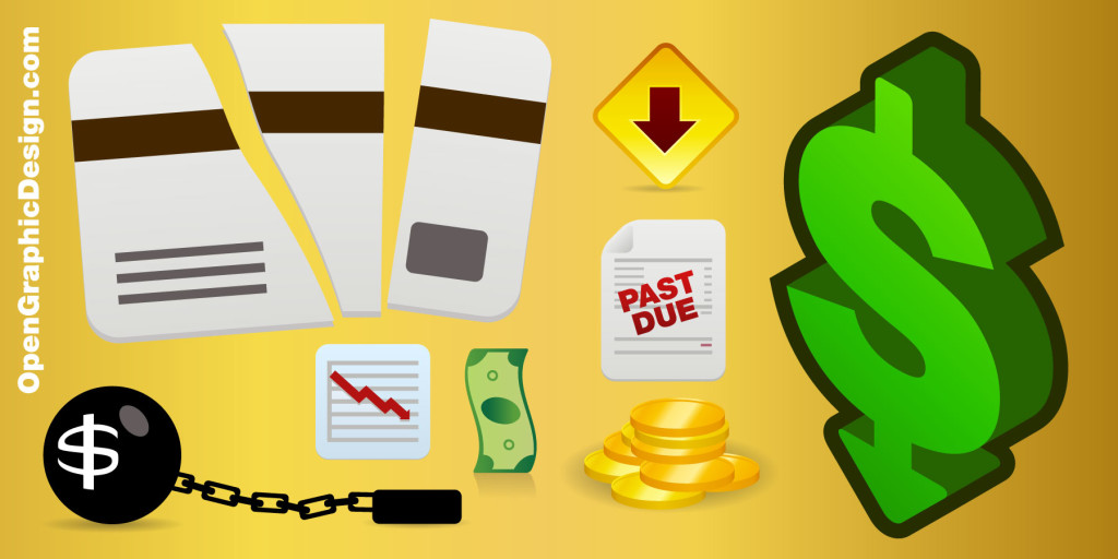 Economic crisis vector icons - Free Graphics