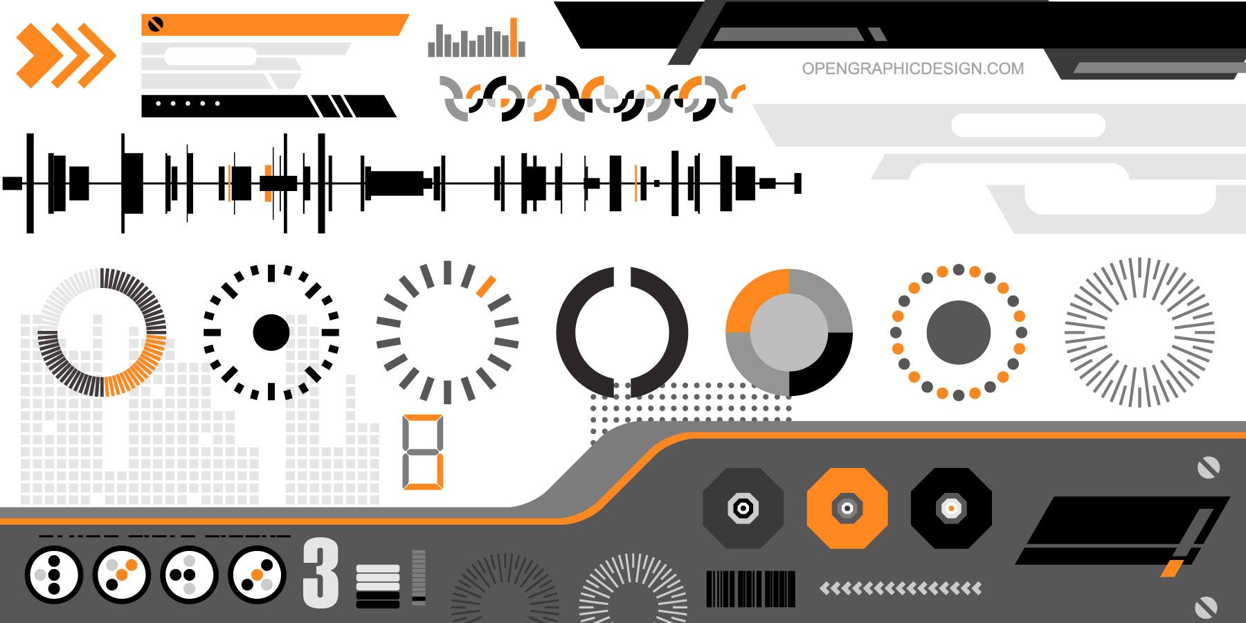 High tech vector art futuristic graphics