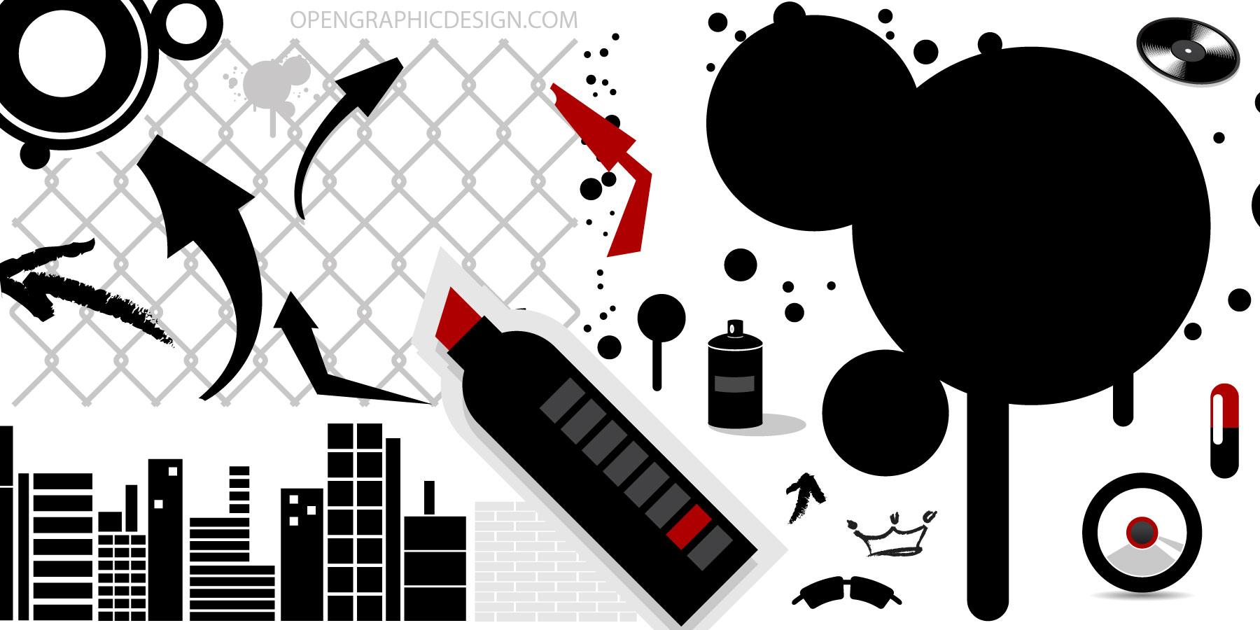 Free Urban Art Vector Graphics City Scape Graffiti