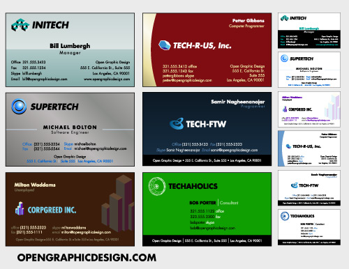 Download Free Business Card Templates And Business Card Designs - Business card template pages