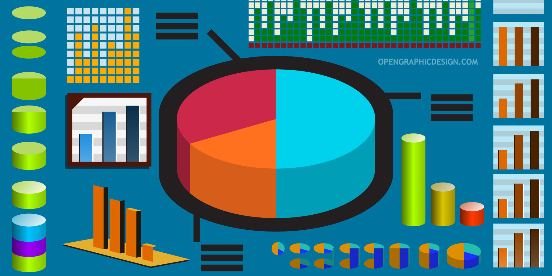 Pie charts data graphs and bar graphs in vector format free how to make vector charts and graphs hires nvjuhfo Gallery